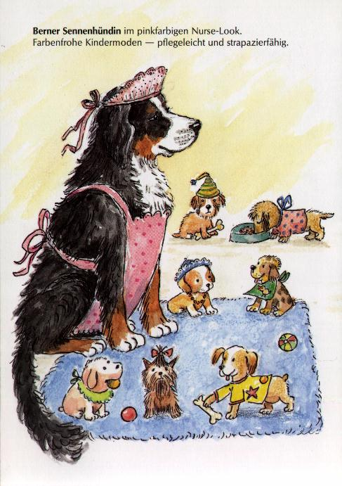 Bernese Mountain Dog Print - German